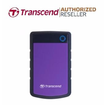 Transcend StoreJet Rugged Compact 25H3P 2TB 3.0 Portable Hard Drive (Purple) + 3 YEARS WARRANTY