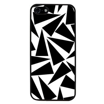 Triangle Pattern Phone Case for iPhone 5C (Black)