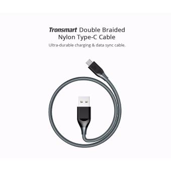 Tronsmart ATC5 Double Braided Nylon USB-C to USB-A Kevlar FiberCable Grey