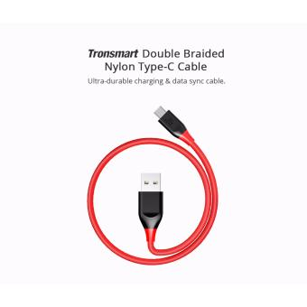Tronsmart ATC5 Double Braided Nylon USB-C to USB-A Kevlar FiberCable Red