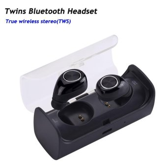 TWS-11 New Mini Invisible Twins True Wireless Bluetooth Earphones CSR 4.1 Handsfree Earbuds for IPhone 7 Plus,Samsung S6 Xiaomi - intl