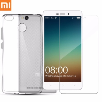 Tylex Tempered Glass 2 Pcs with FREE Jelly Case For Xiaomi Redmi 3, 3S, 3A & 3X (Clear)
