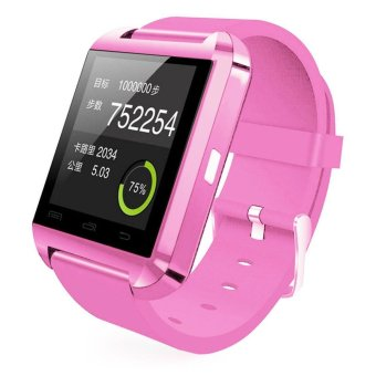 U8 Bluetooth Smart Wrist Watch Phone Mate for AndroidSamsung/iPhone (Pink)