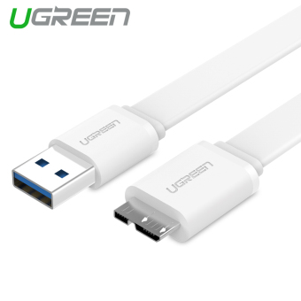 UGREEN 1m USB 3.0 Charging and Data Sync Cable for Samsung Note 3S5 (White)