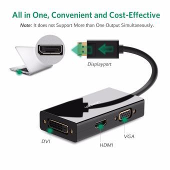 UGREEN 3-in-1 DisplayPort DP to HDMI / VGA / DVI Adapter CableConverter - Black - intl - 3