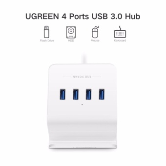 UGREEN 4 Port USB 3.0 Hub 5Gbps SuperSpeed Data Hub with Phone Stand 1m Cable for iMac, MacBook, Macbook Pro, Macbook Air, Mac Mini, Surface Pro, Chromebook and PC - intl - 2