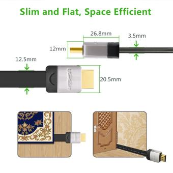 UGREEN Premium Flat High Speed HDMI Cable with Ethernet Metal Case 24K Gold Plated Connector (3m) - Intl - 4