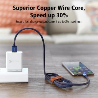 UGREEN Type C Cable Denim Braided Sync and Fast Charging Data Cablefor Android Mobile Phone - 2M - intl - 2