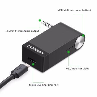 UGREEN V4.1 Wireless Bluetooth Audio Music Receiver without Mic3.5mm Hands-free Function - intl - 2