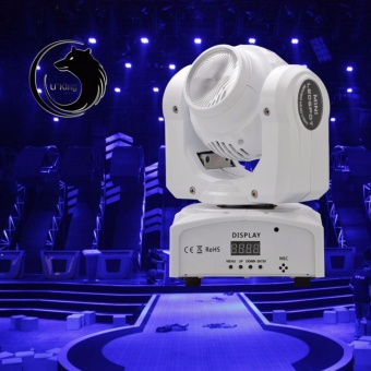 U`King Double Face Moving Head Stage Light Led Projection PartyDisco DJ Club Lighting 100W 4+1 Wash+Beam RGBW LED Stage EffectLighting - intl Price Philippines