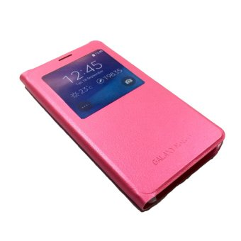 Ultra Flip PU Leather Case for Samsung Galaxy Note 5 (Pink)