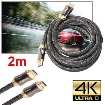 Ultra HD HDMI Cable v2.0 High Speed + Ethernet HDTV 2160p 4K 3DGOLD (2M) - intl - 2