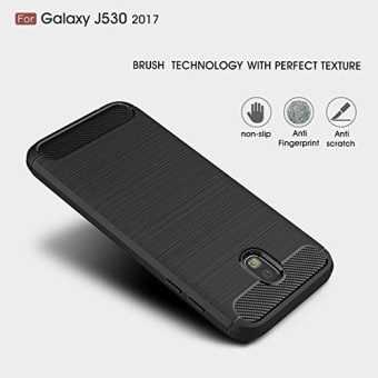 Ultra Light Carbon Fiber Armor ShockProof Brushed Silicone GripCase for Samsung Galaxy J5 Pro 2017 J530 - intl - 3