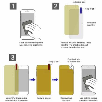 Ultra Slim Anti-Slip TPU Cellphone Case with 2 Full 3D ScreenProtector for Samsung Galaxy S8 - 2