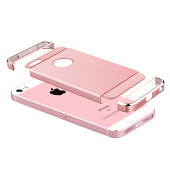 Ultra Thin 3 in 1 Combo Case for Apple iPhone 5 / 5S / SE (Rose Gold) - 5