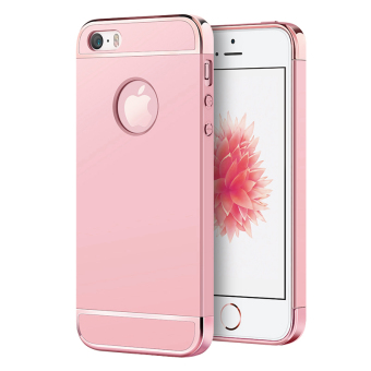 Ultra Thin 3 in 1 Combo Case for Apple iPhone 5 / 5S / SE (Rose Gold) - 2