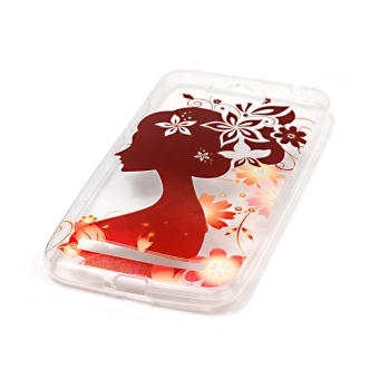 Ultra Thin Clear Soft TPU Phone Back Case Cover For Asus ZenFoneMax ZC550KL (Silhouette of A Girl) - 2