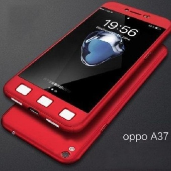 Ultra-thin Full Protection 360 Case for Oppo A37 (Red)