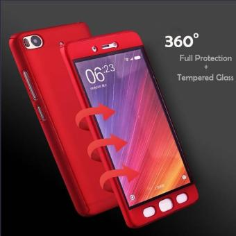 Ultra-thin Full Protection 360 Case for Xiaomi Redmi 4A (Red)