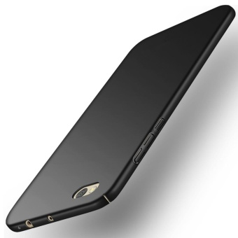 Ultra Thin PC Case For Xiaomi Mi 5C Hard Shell Cover Anti-SlipMatte Coating Black - intl - 2