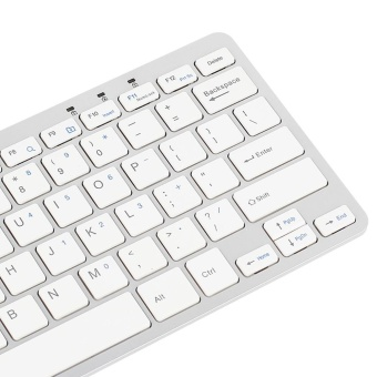 Ultra Thin Slim 78 Key Wired USB Mini PC Keyboard for PC Apple Mac Laptop WH - intl - 4