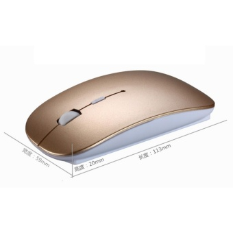 Ultra Thin Wireless keyboard mouse 2.4G keyboard Mouse combo and 2.4G USB Receiver for Macbook,Computer PC,Laptop and TV BOX - Golden - intl - 4