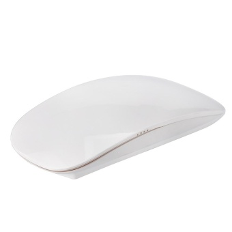Ultrathin 2.4G Wireless RF Mouse with Touch Mouses Wheel fordesktops computer White - intl Price Philippines