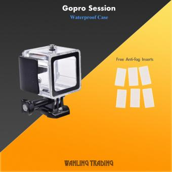 Underwater Waterproof case 45M for GoPro HERO 4 Session Action Camera (Clear)