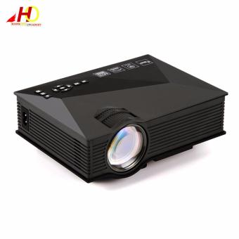 Unic UC46 Mini WiFi Projector 1200 Lumens Full HD 1080P Media Player IR/USB/SD/HDMI/VGA (Black)