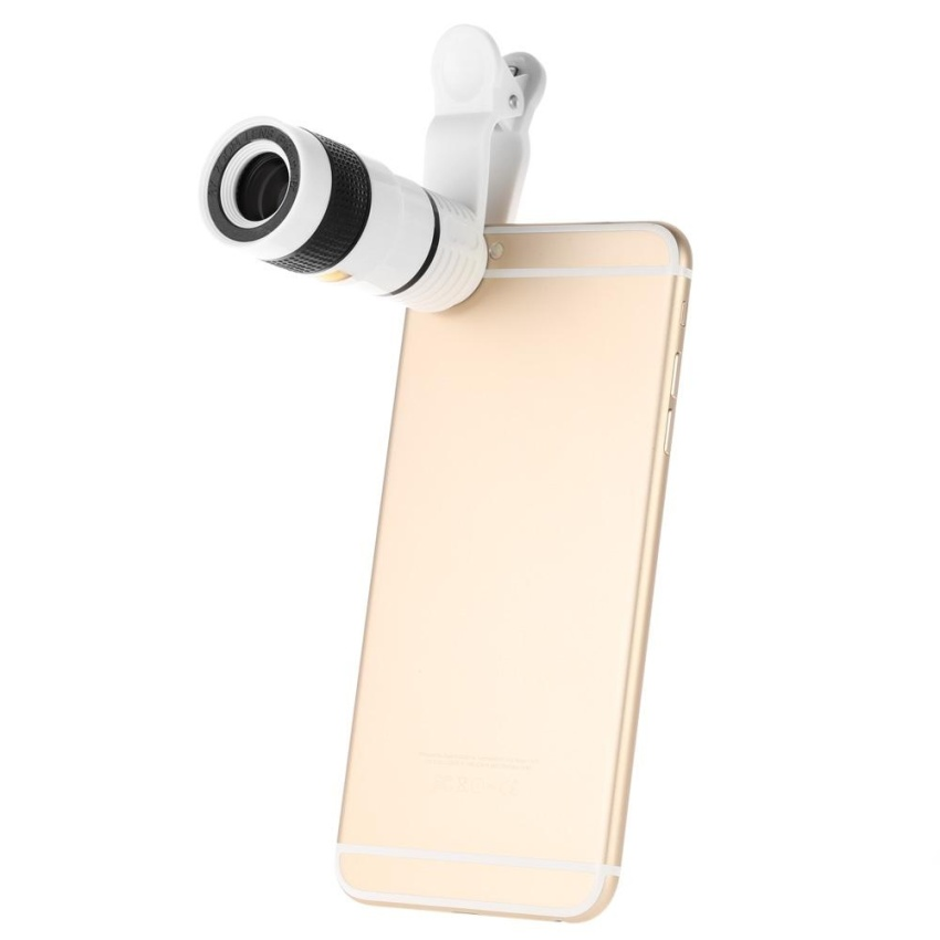 Universal Special Design 8X Zoom Phone Telephoto Camera Lens withClip for iPhone Samsung HTC - intl