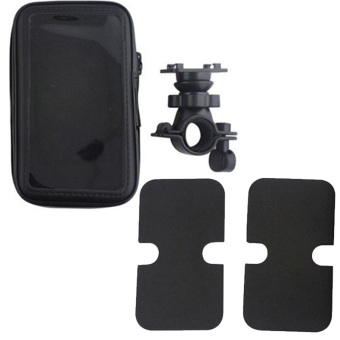 Universal Waterproof Bicycle Motorcycle Mobile Phone Holder BagBike Motorbike Mount Stand Cellphone Case for iPhone 6/6S (Black) -- intl - 3