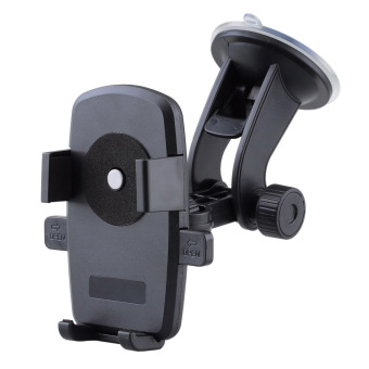 Universal Windshield Dashboard Car Mount Holder for IPHONE 6 / SAMSUNG S6 and More (Black)