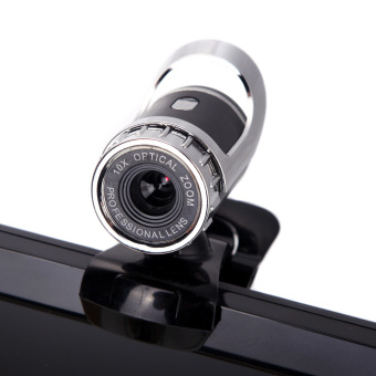 USB 2.0 50 Megapixel HD Webcam Camera Web Cam Digital VideoWebcamera with Microphone MIC for Computer PC Laptop Black - Intl