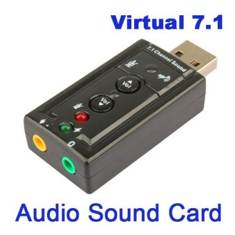 USB 2.0 To 3.5mm Audio Micrphone Speaker Port Adapter 7.1 ChannelSound Track - 2