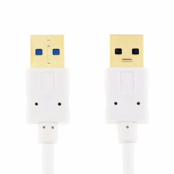 USB 3.0 A to A Cable Type A Male to Male Cable Cord for DataTransfer Hard Drive Enclosures, Printers, Modems, Cameras (1.5m) -intl - 2