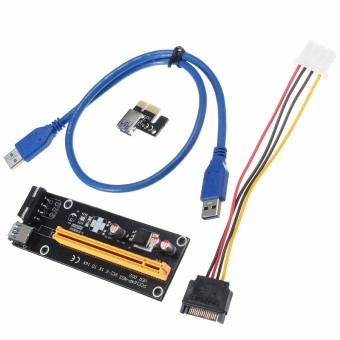 USB 3.0 PCI-E Express 1x To 16x Extender Riser Card Adapter Power Cable Mining - 2