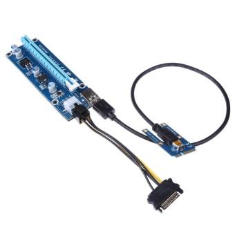 USB 3.0 PCI-E Express 1x to16x Extender Riser Card Adapter SATA6Pin Power - intl