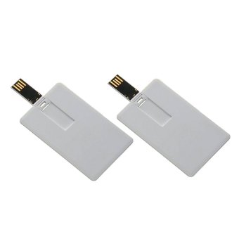 USB ATM Card Style USB 8GB (White) Set of 2
