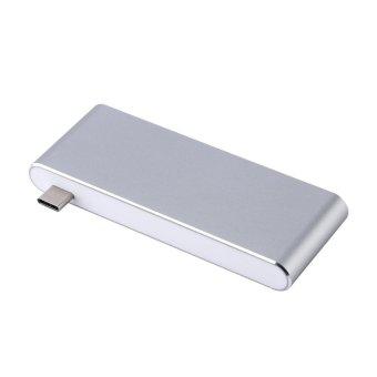 USB-C 3.1 Multi-port Hub Adapter 2 USB3.0 Ports Type-C PD SD/TFCard Reader for MACBOOK Grey - intl - 4
