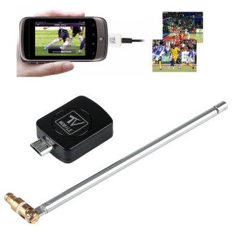 USB DVB-T Digital TV Tuner Receiver For Android Smartphone Tablet PC - Black - intl - 2