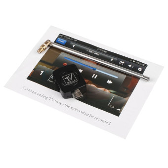 USB DVB-T Digital TV Tuner Receiver For Android Smartphone Tablet PC - Black - intl - 4