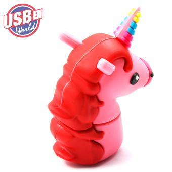USB World Action Figure Pink Unicorn 32GB USB Rubber Flash Drive - 3