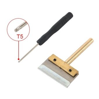 UV Glue Clean Tool 30W T Solder Iron Tip with Blade Remove ResidueLOCA Adhesive for Cell Phone Screen +T5 Screwdriver - intl - 3
