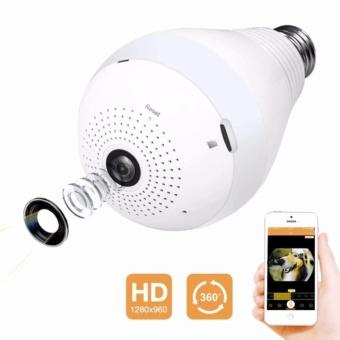 V380 LED Bulb Light WIFI Spy Camera Security Camera ...