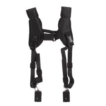 VAKIND Quick Rapid Double Dual Shoulder Sling Belt Strap for TwoDSLR Digital Camera (Black) - intl - 3