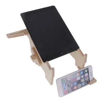 Vanker-Wooden Radiating Dock Holder Stand Heat Dissipation ForLaptop iPad MacBook Cell Phone - intl - 2