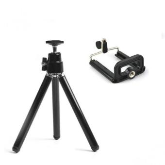 VeryGood Tripod Stretchable Tabletop Bracket Portable Holder SelfieStick (Black) with Free Mini Foldable All-In-One Monopod withRemote Clicker (Black) - 4