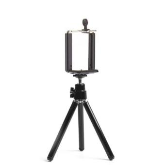 VeryGood Tripod Stretchable Tabletop Bracket Portable Holder SelfieStick (Black) with Free Mini Foldable All-In-One Monopod withRemote Clicker (Black) - 3