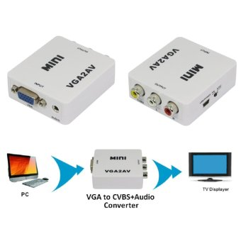 VGA to AV TV Composite RCA S-Video Scan Converter - intl - 2