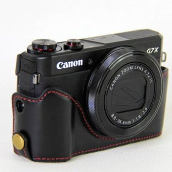 Vintage Leather Camera Case for Canon powershot G7XII / G7 X II /G7X MarkII / G7 X Mark II Camera Bag Cover - intl - 4